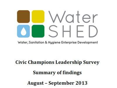 2013-11-06 Civic Champions Leadership Survey