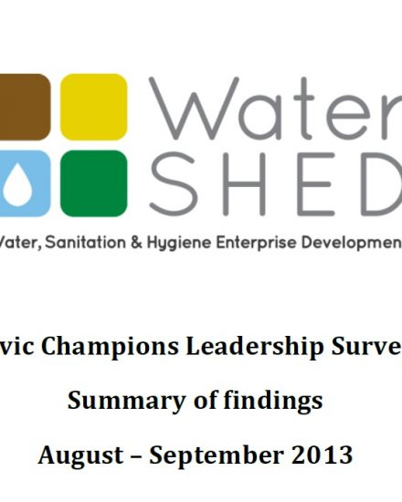 2013-11-06 Civic Champions Leadership Survey