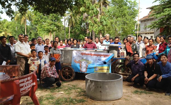 23 MAY 2012 - Nepal delegation visits WaterSHED's sanitation marketing project in Kampong Cham Province, Cambodia